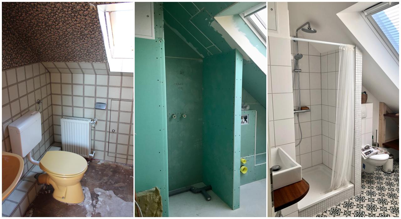 Rénovation de salle d'eau mansardée Paris