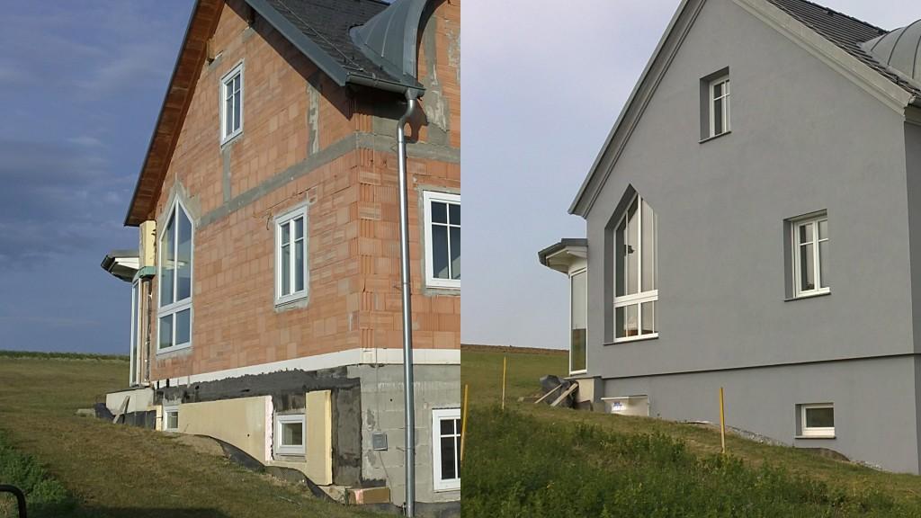 Isolation extérieure sur maison neuve